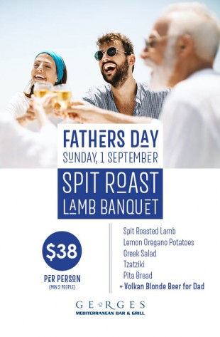 Spit Roast Lamb for Fathers day Lunch